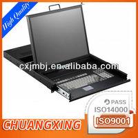custom designed ergonomic metal rackmount LCD Plasma monitor keyboard drawer tray rollout shelf OEM manufacture and fabricating