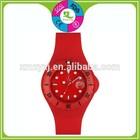 Brown Silicon Gel Band strap Quartz Movement Bracelet Wristwatch top brand