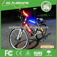 LED illuminated flash light on bicycle bags / promotional led bike parts