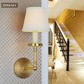 américa estilo clássico de bronze de bronze da vela arandelas de cobre de luz na parede