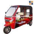 2015 caliente la batería triciclo operado, de taxi de pasajeros triciclo, 1200w de energía eléctrica modelo de color rojo
