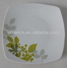 "8""porcelain square flat plate,ceramic dinnerware"