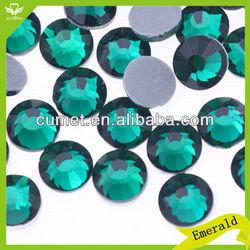 5A Schwan hot fix crystal bead rhinestone color Emerald