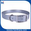Urethane dog collar remote training dog collar in silver