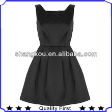 cut out bow back black prom dress