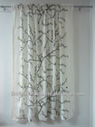 Home Decor Cotton Window Curtain Fabric Supplier/ Printed Window Curtain Designed In 2013