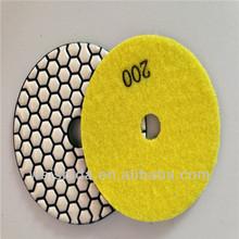 WSD-GX191 New Production Diamond dry|wet resin bond polishing pads granite