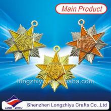 2014 top quality custom made custom made metal badge emblems medal for jackets