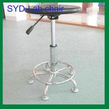 Height Adjustable And Movable Black Plastic Lab Stool