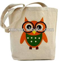 bird print on Natural Canvas Tote Bag