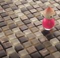Per la vendita piastrelle del bagno mosaico mattonelle di mosaico di vetro smerigliato vetro marmo mattonelle di mosaico mix kgs-s3026