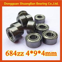 chrome steel miniature deep groove ball bearings 684zz 684 4*9*4mm model rowing boat