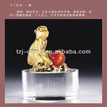 Wholesale Twelve Zodiac Metal Crystal Animal(Monkey)