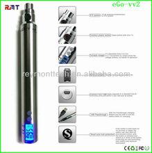 Various LCD screen colors eGo VV2 battery 1100mah capacity