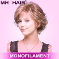 Sintética monofilamento pelucas atado a mano casquillo de la peluca de la peluca de látex