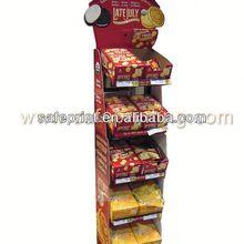 Red wine cardboard floor display/pop advertising flooring led display control card