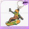 beautiful promotion custom soft pvc skateboard keychain