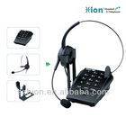 Telephone with headset port for call center use