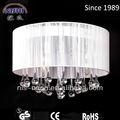Luxus weiß lampenschirm Freiheit kristall pendelleuchte moderner chandeleir led decke tropfen perlen lampe ns-120095-1w