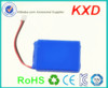 oem 3.7v 900mah li-ion battery rechargeable for mini music box