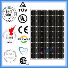 cheapest grade A 235watt mono pv flat solar panel stock with tuv ul