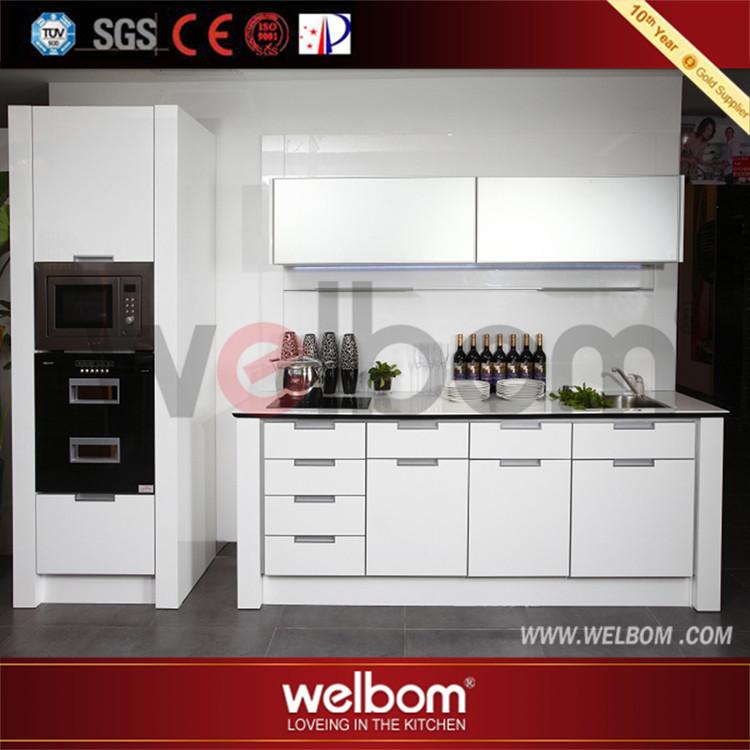 Blanc cuisine panneau mural laque armoires de cuisine - Panneau mural cuisine ...