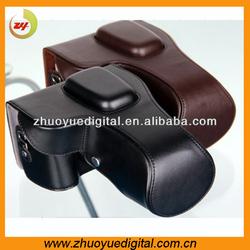 Leather dslr bag,slr leather case,dslr leather bag for Nikon d7100 dslr