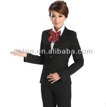 comfortable hotel uniform/lady suit for hotel reception