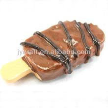 de lujo mini 3d de la resina de helado de chocolate de paleta artificial para la exhibición decorativa en artes y oficios