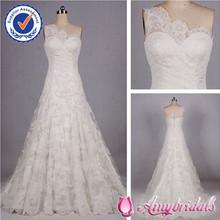 AM0465 Elegant one shoulder spanish style lace wedding dresses