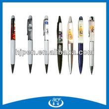 Liquid Filled Plastic Pen 3D Floater Ball Pen for Promotional