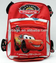 Car type children's school backpack