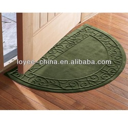 Nylon with rubber backing slip resistant personalized doormat