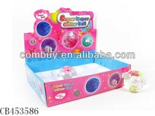 7.5cm water bouncing balls with flashing light 12pcs fish in water balls promotional toys