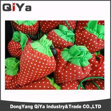 Custom design fruit shape reusable folding shopping bag