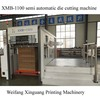 Best precision Pizza box Semi-automatic Die Cutting creasing Machine XMB-1100