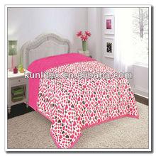 blanket fabric cheap for Fleece Blanket Bed Throw