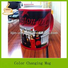 Lj-4374 sihirli kupa süblimasyon/süblimasyon ısı transferi kupa/color değişimi coffee mug