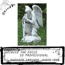 Beautiful cultured outdoor male angel sculpture