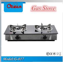 Tempered Glass Panel Gas Stove 2 Burners
