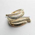 rosa de oro chapado en aleación de zinc elegante creadas en laboratorio diamantes diseños de anillos
