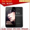 venda quente modelo thl w200 mini gprs telefone 8gb 3g super slim telefone android