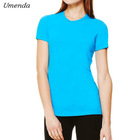 Beautiful Girl High Neck Wholesale Blank T Shirts