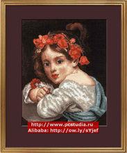 Girl In A Crimson Wreath With Cloves - Newest Cross Stitch Kit DIY cross stitch Sets 100% Cotton Threads cross stitch kits