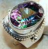 Designer Rainbow Mystic Quartz 925 Silver Ring