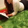 100% polyester latex backing washable rug polyester large area shaggy rug