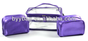 Colorful satin pvc cosmetic bag diaper bag online shopping