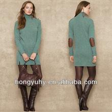 nuova moda caldo di vendita ultimo disegno ragazze maglione dolcevita con e maniche lunghe made in china 2014 oem
