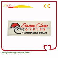 Cheap Soft PVC Woven Iron On Labels