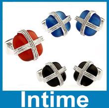 2014 wholesale cheap fashion jewelry cats eye cufflinks china supplier